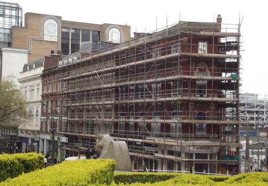 80 83 new street birmingham scaffolding