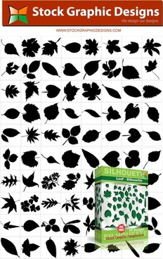 80 leaf silhouettes free vector and photoshop brush