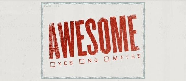 """Awesome"" Postcard PSD"