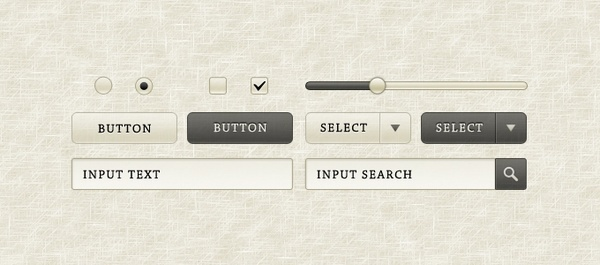 """Sepia"" GUI Elements"