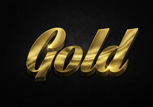 87 3d shiny gold text effects preview