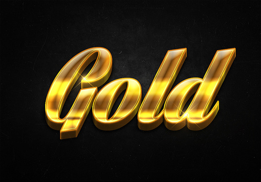 88 3d shiny gold text effects preview