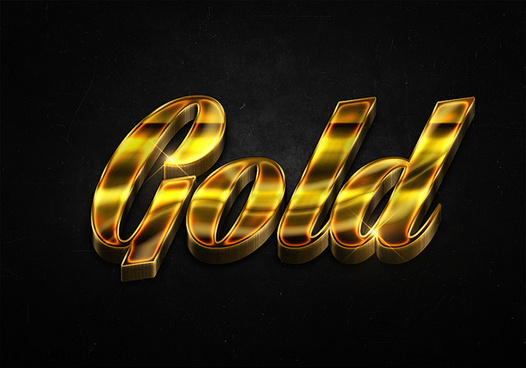 89 3d shiny gold text effects preview
