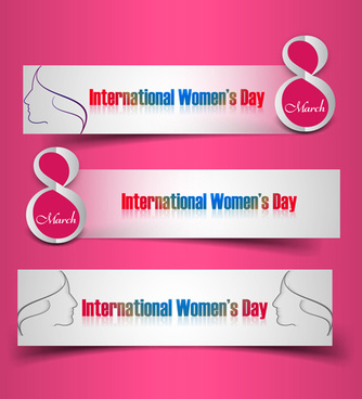 8 march international women day design vector graphics