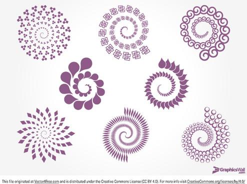 8 spirals abstract design element