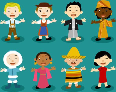 8 the children of the world design vector