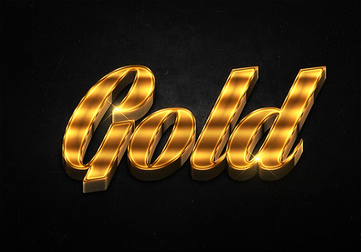 91 3d shiny gold text effects preview