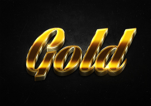 97 3d shiny gold text effects preview