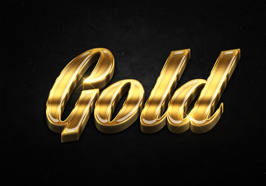 9 3d shiny gold text effects preview