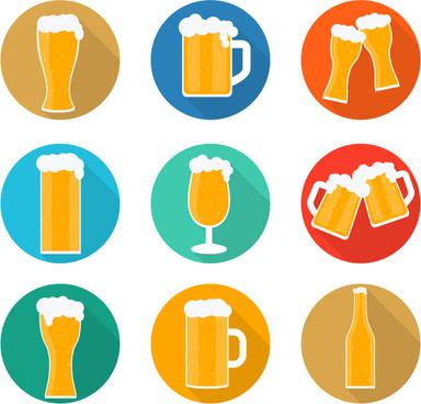 9 delicious beer vector