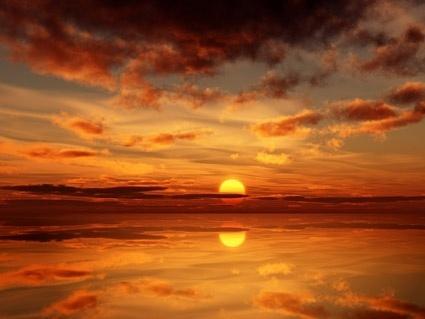 a beautiful sunset stock photo