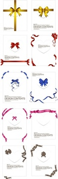 a collection of exquisite ribbons 02 vector