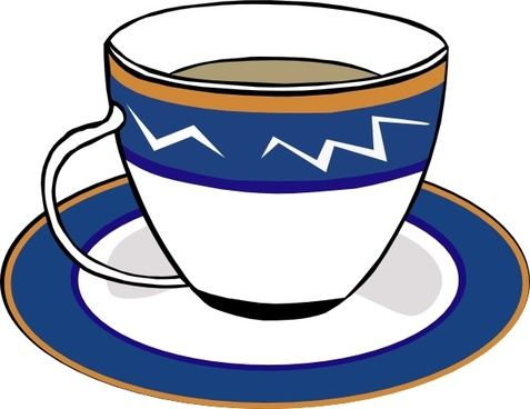 A Cup And A Dish clip art