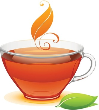 a cup of tea vector