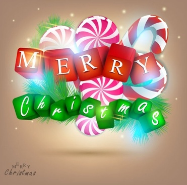 a gorgeous christmas elements background 01 vector