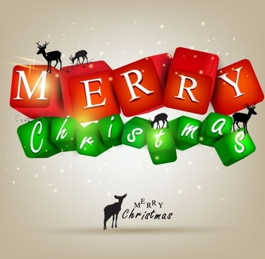 a gorgeous christmas elements background 05 vector