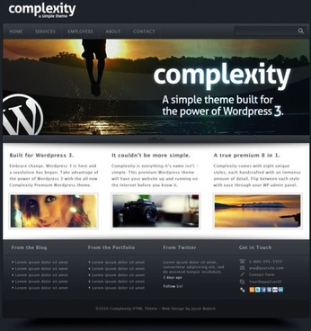 a gorgeous web templates 01 psd layered