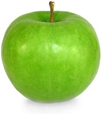 a green apple stock photo