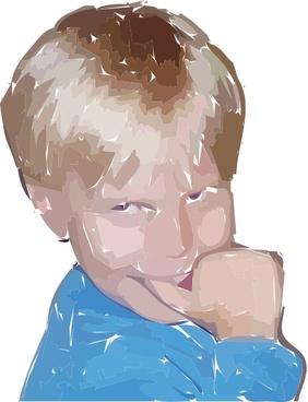 A Happy Boy clip art