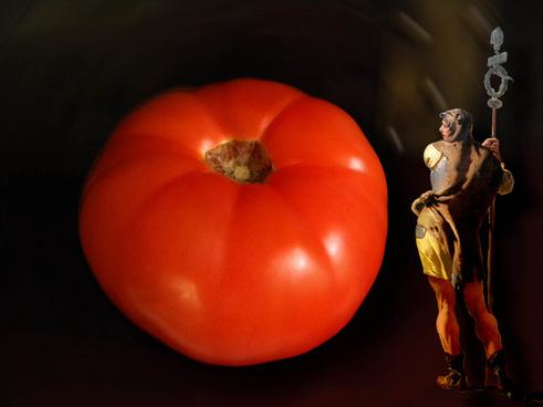 a happy tomato