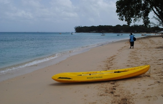 a kayak on a beach