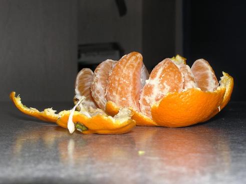 a mandarin orange split