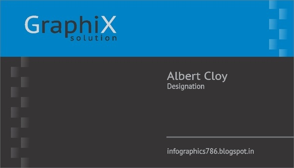 a memorable black background business card vecor