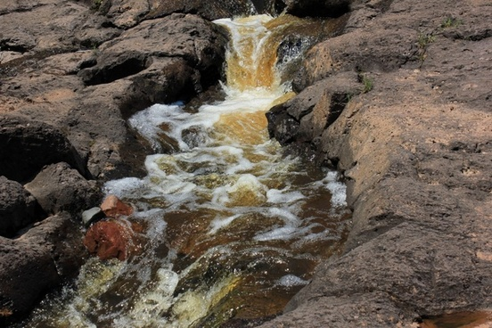a mini falls at gooseberry falls state park minnesota