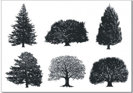 a monochrome tree vector free cdr vector