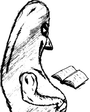A Monster With A Book clip art