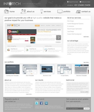 a new foreign web psd