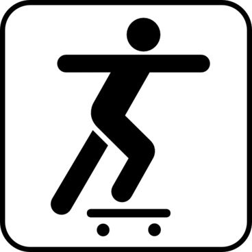 A Person Sliding On A Skate Board clip art