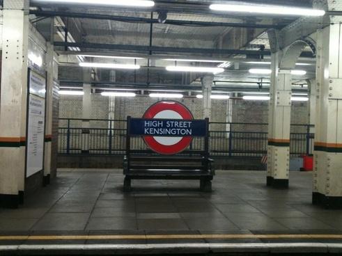 a platform bench at high street ken