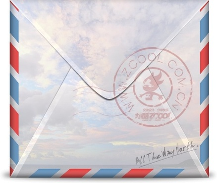 a realistic envelope zcool postmark stamp psd layered