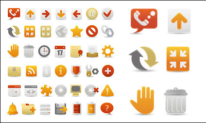 A set of beautiful web design decorative icon