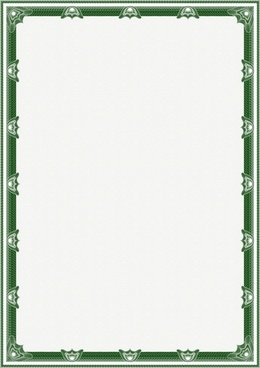 border template green petals decor repeating symmetric design