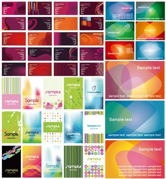 a variety of beautiful vector background nonoriginal works