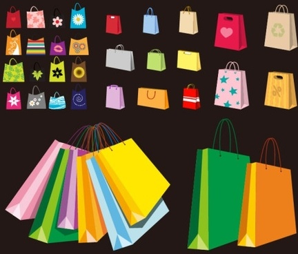 a variety of colorful clip art bag bags