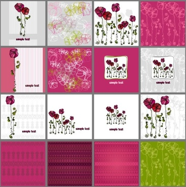 a variety of exquisite patterns of flowers illustrator 01 vector