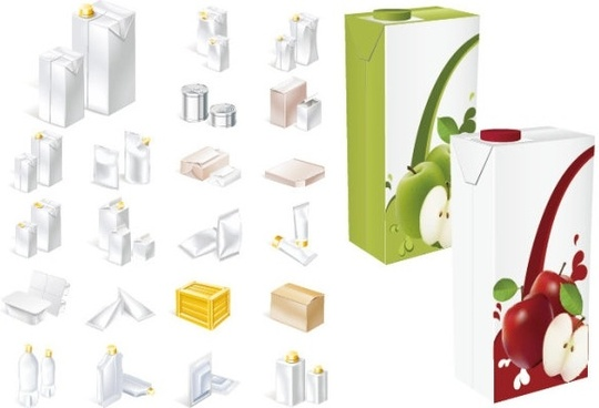 a variety of packaging vector