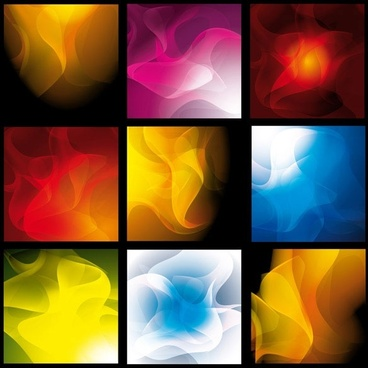 a variety of smoke background vector