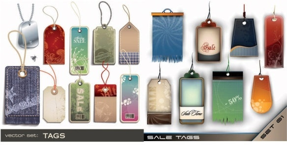 a variety of tag vector