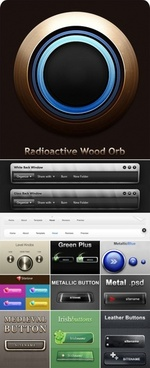 a variety of web design elements psd layered