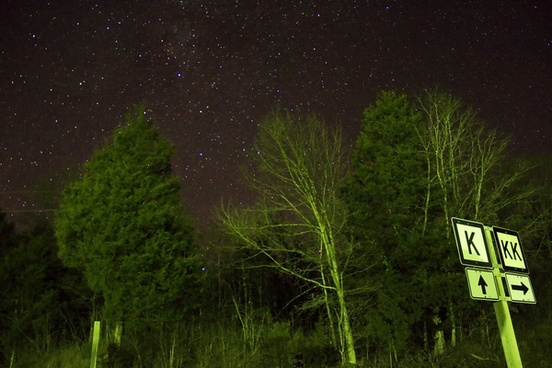 a very bright night sky at ozark national scenic riverways missouri