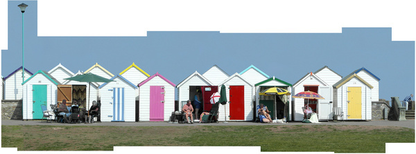 a very english riviera beach huts