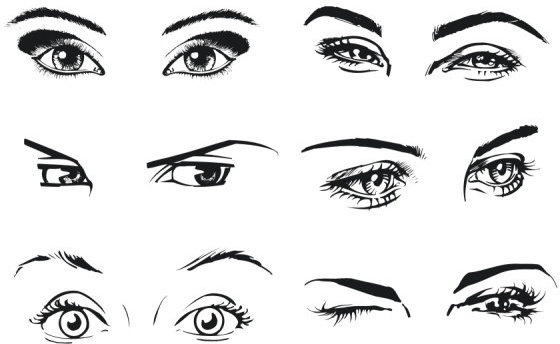 a woman39s eyes color vector