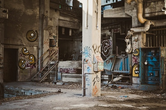 abandoned architecture art broken city decay