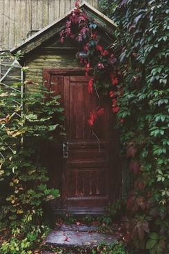 abandoned architecture art color cottage door