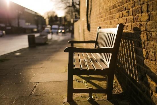 abandoned bench bin chair city furniture graffiti
