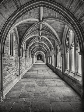 abbey arc arch architecture art black and white